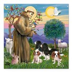 StFrancis-4Cavaliers Square Car Magnet 3