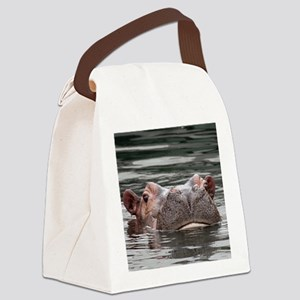 Hippo002 Canvas Lunch Bag