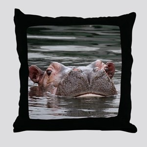 Hippo002 Throw Pillow