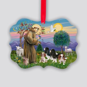 StFrancis-4Cavaliers Picture Ornament