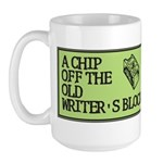 A Chip Off the Old Writer's B Large Mug