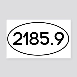 2185.9 Rectangle Car Magnet