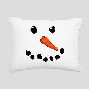 Cute Snowman Rectangular Canvas Pillow