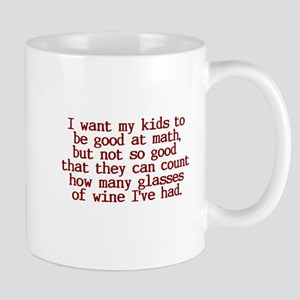 Count Glasses of Wine Mug