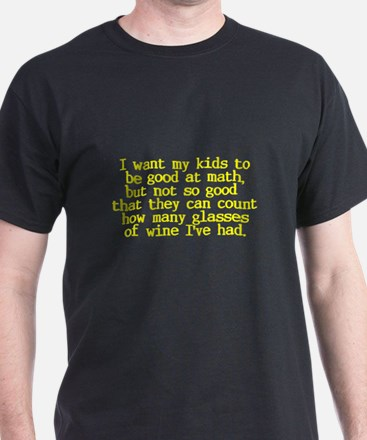 Count Glasses of Wine T-Shirt