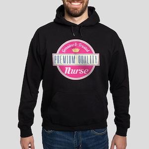 Nurse Vintage Gift Pink Hoodie (dark)
