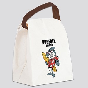 Norfolk, Virginia Canvas Lunch Bag