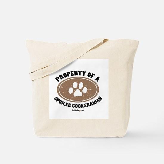 Cockeranian   dog Tote Bag
