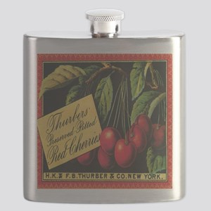 Vintage Fruit Crate Label Flask