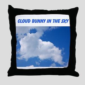 CLOUD BUNNY IN THE SKY Throw Pillow