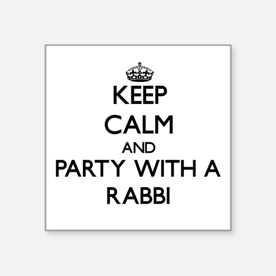 Keep Calm and Party With a Rabbi Sticker