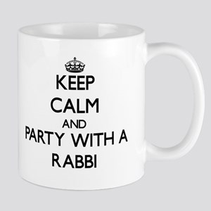 Keep Calm and Party With a Rabbi Mugs