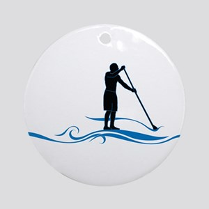 Stand Up Paddle-Waves Ornament (Round)