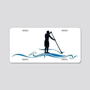 Stand Up Paddle-Waves Aluminum License Plate