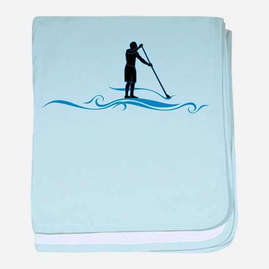 Stand Up Paddle-Waves baby blanket