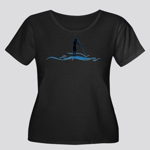 Stand Up Paddle-Waves Plus Size T-Shirt