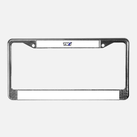 TSM BLUE License Plate Frame