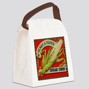 Vintage Label Art, Sugar Corn Canvas Lunch Bag