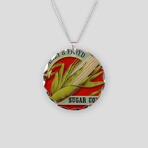 Vintage Label Art, Sugar Cor Necklace Circle Charm