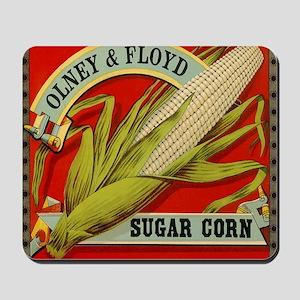 Vintage Label Art, Sugar Corn Mousepad