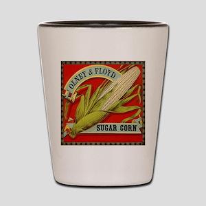 Vintage Label Art, Sugar Corn Shot Glass