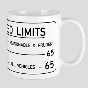 Speed Limit Reasonable and Prudent Mugs