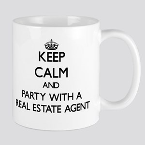 Keep Calm and Party With a Real Estate Agent Mugs