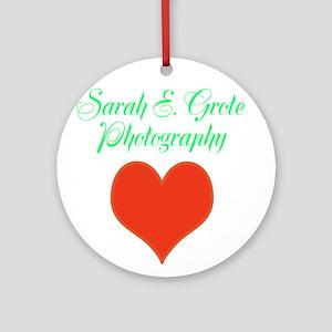 Sarah E. Grote Photography Ornament (Round)