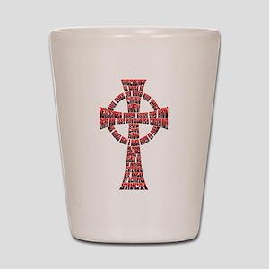 Saints Prayer Shot Glass