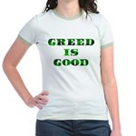 Greed Is Great Jr. Ringer T-Shirt