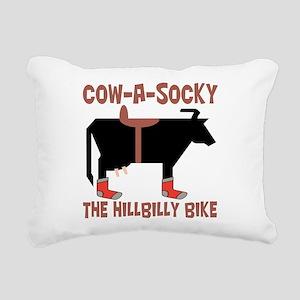 Cow A Socky Hillbilly Bi Rectangular Canvas Pillow
