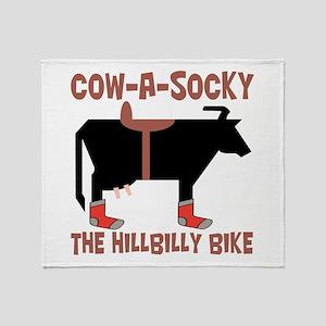 Cow A Socky Hillbilly Bike Throw Blanket