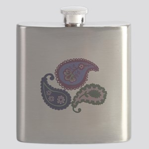Textured Paisley Flask