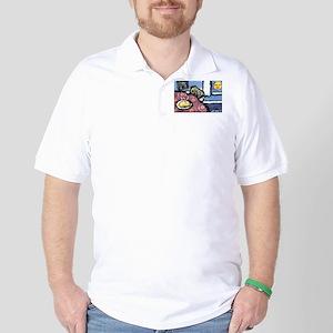 PUG chicken soup Golf Shirt
