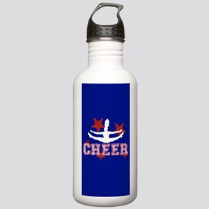 cheer blue red Water Bottle