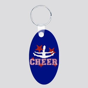 cheer blue red Keychains
