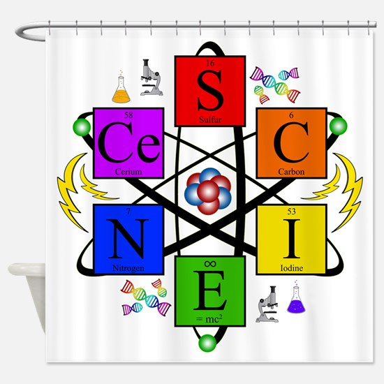S.C.I.E.N.C.E. !! Shower Curtain