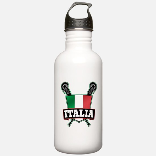 Italia Italy Lacrosse Logo Water Bottle