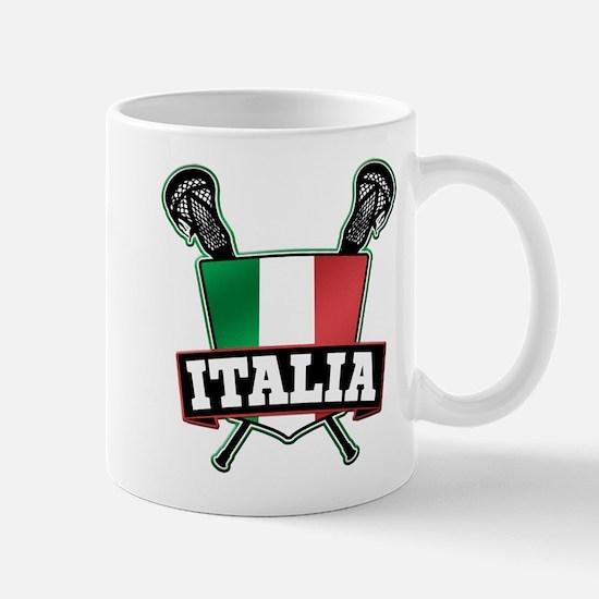 Italia Italy Lacrosse Logo Mugs