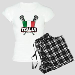 Italia Italy Lacrosse Logo Pajamas
