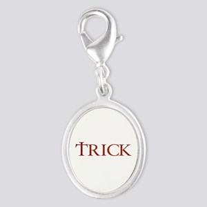 Celtic Trick Silver Oval Charm
