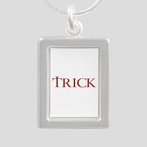 Celtic Trick Silver Portrait Necklace