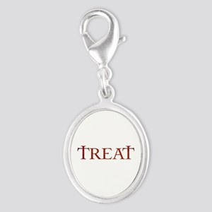 Celtic Treat Silver Oval Charm