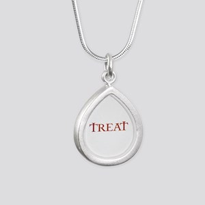 Celtic Treat Silver Teardrop Necklace