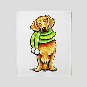 Golden Retriever Scarf Throw Blanket