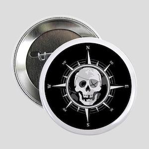 "Pirate Compass 2.25"" Button"