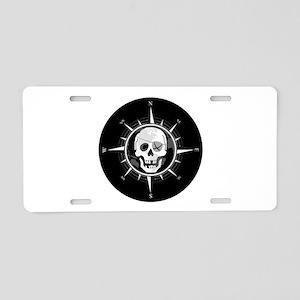 Pirate Compass Aluminum License Plate