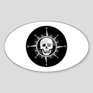 Pirate Compass Sticker (Oval)