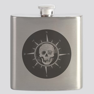 Pirate Compass Flask