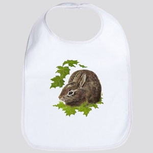 Cute Little Bunny Rabbit Pet Animal Watercolor Bib
